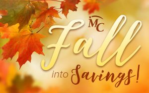 Fall into savings at MCFCU!